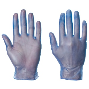 Image of Vinyl powder-free disposable gloves, blue, P-A114256