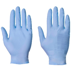 Image of Nitrile powder-free disposable gloves, blue, P-A114270