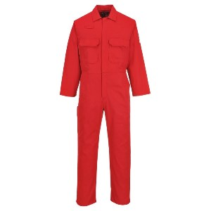 Image of Flame retardant coverall, Red, P-C01017