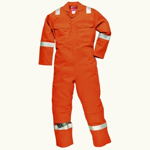 Image of FR reflective coverall, Orange, P-C01030