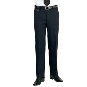 Image of Polyester office trousers, Black, P-C02C100