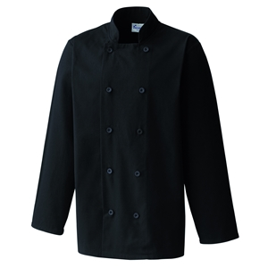 Image of Long sleeve chefs jacket, Black, P-C04PR657