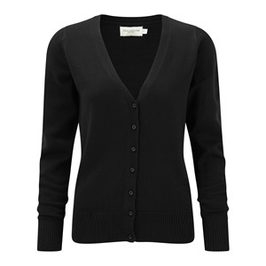 Image of Knitted ladies cardigan, Black, P-C06715F