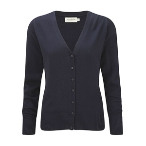 Image of Knitted ladies cardigan, Navy, P-C06715F