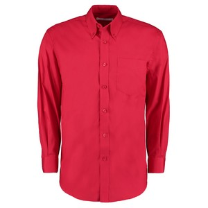 Image of Long sleeve oxford shirt, Red, P-C06KK105