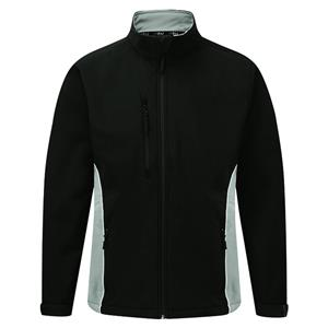 Image of Silverstone two-tone softshell jacket, Black/Grey, P-C124280