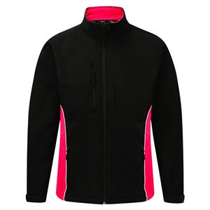 Image of Silverstone two-tone softshell jacket, Black/Red, P-C124280