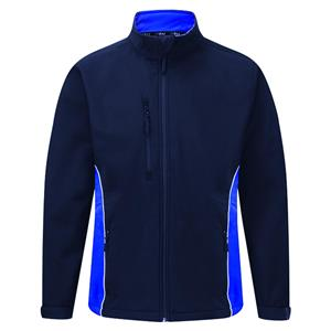 Image of Silverstone two-tone softshell jacket, Navy/Royal, P-C124280