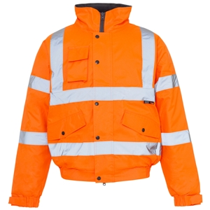Image of Hi-vis bomber jacket, Orange, P-C15SHV72