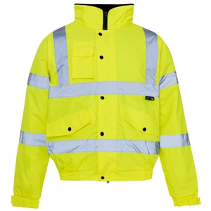 Image of Hi-vis bomber jacket, Yellow, P-C15SHV72