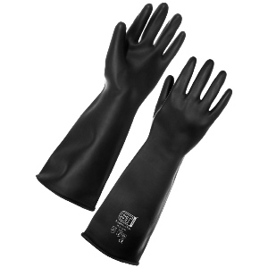 "Image of Heavyweight rubber gauntlets, 17"", P-A060104"