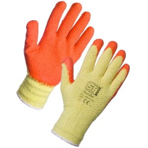 Image of Contractor latex palm coated gloves, P-A104071