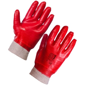 Image of PVC fully coated knitwrist gloves, P-A156202