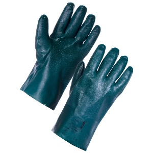 "Image of PVC double dipped gauntlets, 11"", P-A156311"