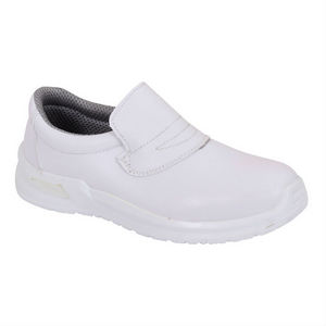 Image of Microfibre hygiene slip-on shoe, white, P-B134191