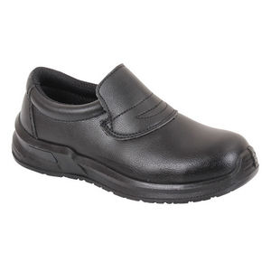 Image of Microfibre hygiene slip-on shoe, black, P-B134194