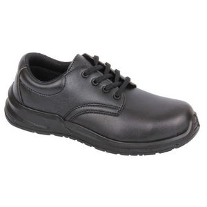 Image of Microfibre hygiene lace-up shoe, black, P-B134196