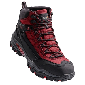 Image of Regatta Causeway waterproof hiker boot, red/black, P-B19TRK110R