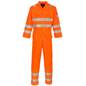Image of FR anti-static rail hi-vis coverall, P-C01060
