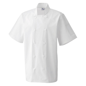 Image of Short sleeve chefs jacket, P-C04PR656