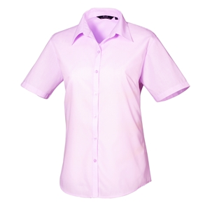 Image of Ladies short sleeve classic shirt Purple P-C060583