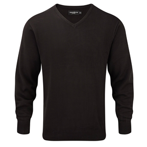 Image of Knitted v-neck pullover, P-C06710M