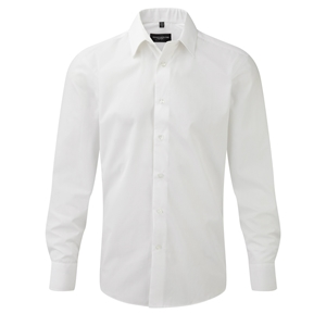 Image of Mens long sleeve tailored shirt White P-C06924M