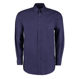 Image of Long sleeve oxford shirt Navy P-C06KK105