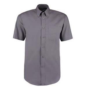Image of Short sleeve oxford shirt Charcoal P-C06KK109