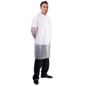Image of Non-woven visitor coats White P-C087711