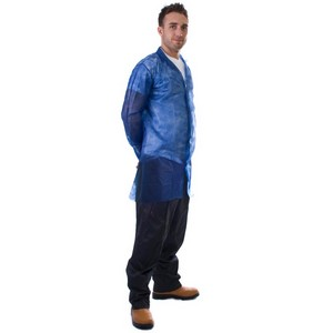 Image of Non-woven visitor coats Blue P-C087712
