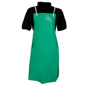 Image of PVC nylon apron c/w sewn-in ties, P-C108425L