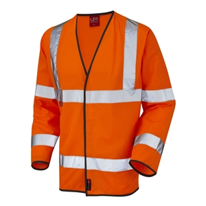 Image of Hi-vis long sleeve FR waistcoat, orange, P-C15SHV11