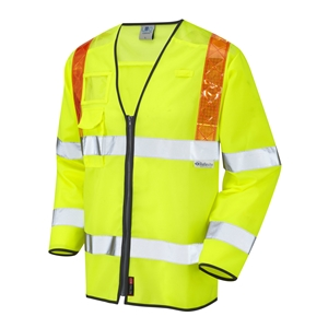 Image of Hi-vis long sleeve waistcoat red braces, P-C15SHV12RB