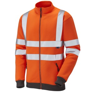 Image of Hi-vis Full Zip Track Sweatshirt, P-C15SHV24