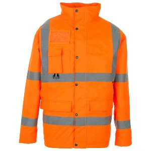 Image of Hi-vis breathable traffic jacket Orange P-C15SHV28