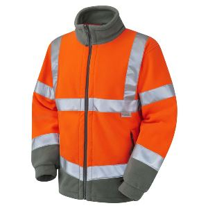 Image of Hi-vis fleece jacket Orange P-C15SHV38