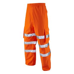 Image of Hi-vis breathable waterproof cargo overtrousers, P-C15SHV41