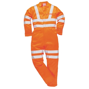 Image of Hi-vis polycotton coverall, P-C15SHV45