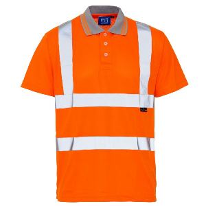 Image of Hi-vis polo shirt, orange, P-C15SHV51
