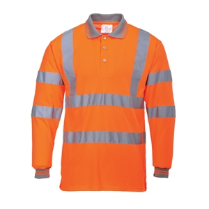 Image of Hi-vis long sleeve polo shirt, P-C15SHV52