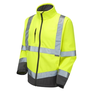 Image of Premium hi-vis softshell jacket Orange P-C15SHV82