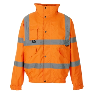Image of Hi-vis breathable bomber jacket Orange P-C15SHV84