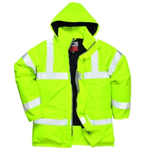 Image of Hi-vis flame-retardent anti-static breathable jacket, yellow, P-C15SHV86