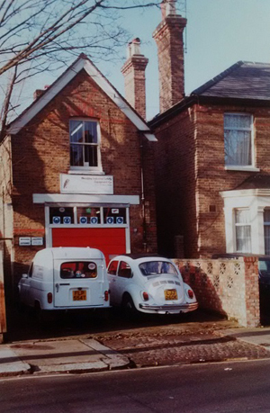 First premises in Napier Road, Wembley, 1980