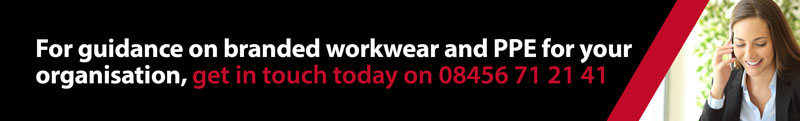 For guidance on branded workwear and PPE for your organisation, get in touch today on 08456 71 21 41