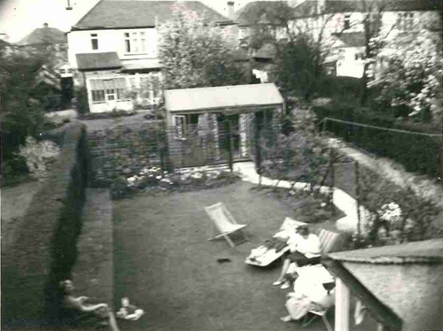 Our first 'warehouse' in 1977; a summerhouse in a residential garden at 42 Kingsway, Wembley