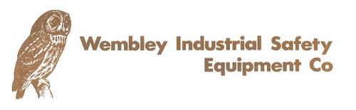 The original 1977 Wembley Industrial Safety Equipment logo, incorporating the WISE owl